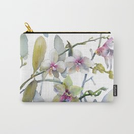 White and Pink Magnolias, Goldfish hiding, Surreal Carry-All Pouch