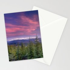 Spring sunset at the mountains Stationery Cards