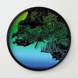 La Rochelle, France, Rainbow, City, Map Wall Clock