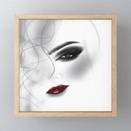 Pretty face ,fashion,make up illustration illustration Framed Mini Art Print