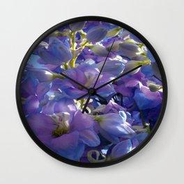 Lilac petals and pistils III Wall Clock