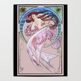 La Mucha La Danse Dance 1898 Art Nouveau La Belle Epoch Poster