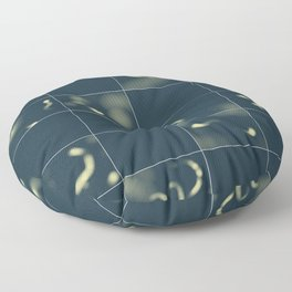 Silence: deep in the water Floor Pillow