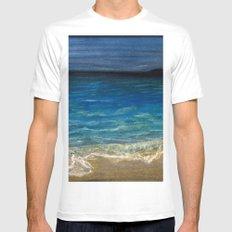 The beach MEDIUM Mens Fitted Tee White