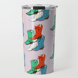 Cowgirl Boot Mood - these boots are made for walking Travel Mug