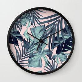 Tropical Jungle Leaves Pattern #8 #tropical #decor #art #society6 Wall Clock