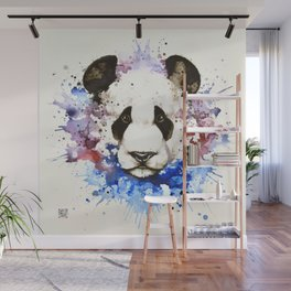 """""""Into the mirror"""" n°3 The panda Wall Mural"""