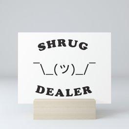 Shrug Dealer Mini Art Print