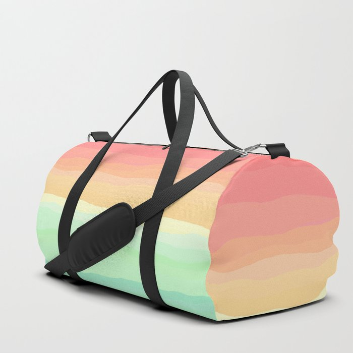 Ice Cream Pastel Rainbow Duffle Bag