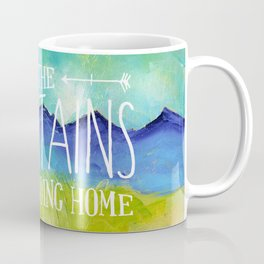 Going to the Mountains, Tetons Landscape Coffee Mug