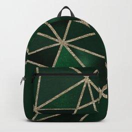 Green Gold Geometry Backpack