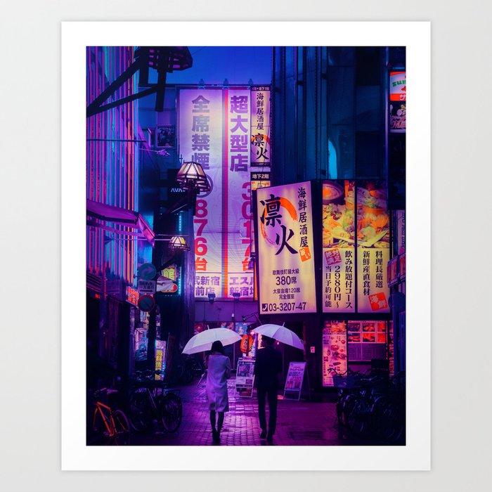 Tokyo Nights / Valentines Day / Liam Wong Art Print