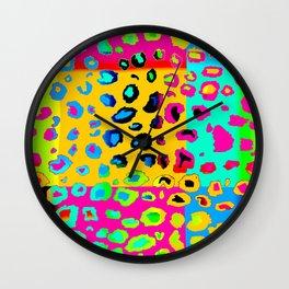 colorpop leopard Wall Clock