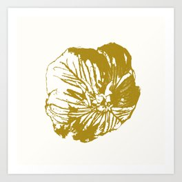 Minimal Yellow Art Print
