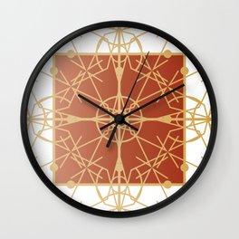 Copper Nouveau Fretwork Wall Clock