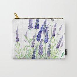 Watercolor Lavender Bouquet Carry-All Pouch