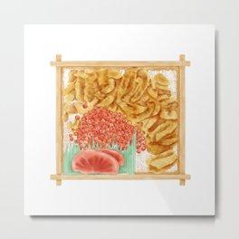 Japanese sea urchin roe bento | 海胆鱼子饭便当 Metal Print