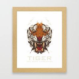 Tiger Expression Vector Framed Art Print