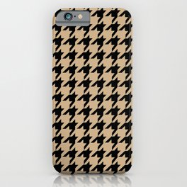 Houndstooth (Black & Tan Pattern) iPhone Case