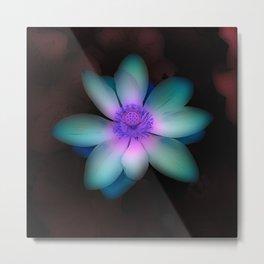 Glowing Lotus Flower Metal Print