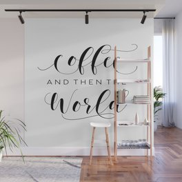 BUT FIRST COFFEE, Coffee Sign,Coffee Bar Decor,Kitchen Wall Art,Kitchen Decor,Drink Sign Wall Mural