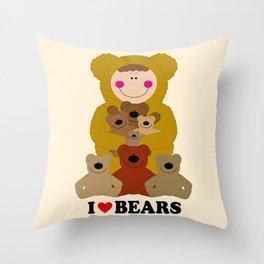 I♥BEARS Throw Pillow