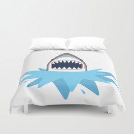 Cartoon Shark Splash Duvet Cover