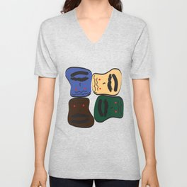 Happy or Angry Unisex V-Neck