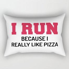 I Run Pizza Funny Quote Rectangular Pillow