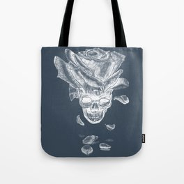 About rose and skull Tote Bag