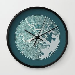 Boston Map Planet Wall Clock