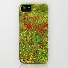 Fields of flowers. Poppies. iPhone (5, 5s) Slim Case