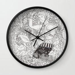 Minegishi with Plants Wall Clock