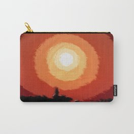 Fiery sunset in the city Carry-All Pouch