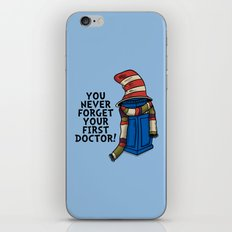 Blue Box in the Hat iPhone & iPod Skin