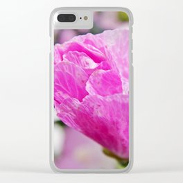 Pink Musk Mallow Rolled-up Clear iPhone Case