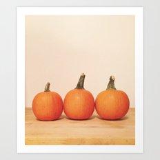 Pumpkin Trio Art Print