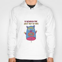 pig Hoodies featuring pig by PINT GRAPHICS