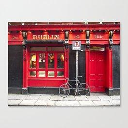 Red Dublin Pub Canvas Print