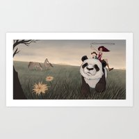 hunting Art Prints featuring Hunting by Vera Johansen