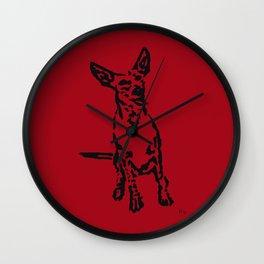 Lajka Podenco 10 Wall Clock