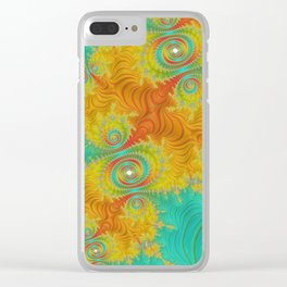 Under the Mexican Sun - Fractal Art Clear iPhone Case