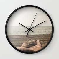 island Wall Clocks featuring Island by Rafael Igualada