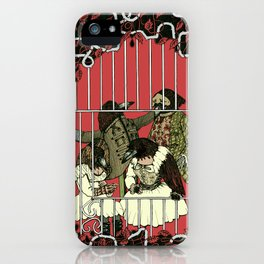 Crow Serie :: At The Balcony (after Goya) iPhone Case
