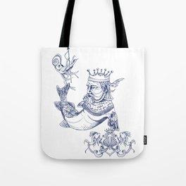 Sea Posse IV - King, Navy Print Tote Bag