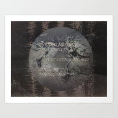 Just Lethal Hearts. Art Print