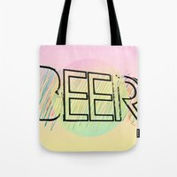 beer Tote Bags featuring Beer! by Bunhugger Design