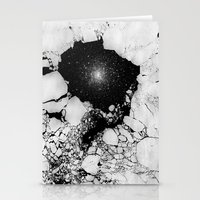 cracked Stationery Cards featuring Cracked by Andrea Orlic