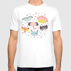 Confetti MEDIUM White Mens Fitted Tee