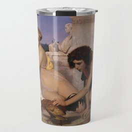 Young Greeks Attending a Cock Fight by Jean-Leon Gerome Travel Mug